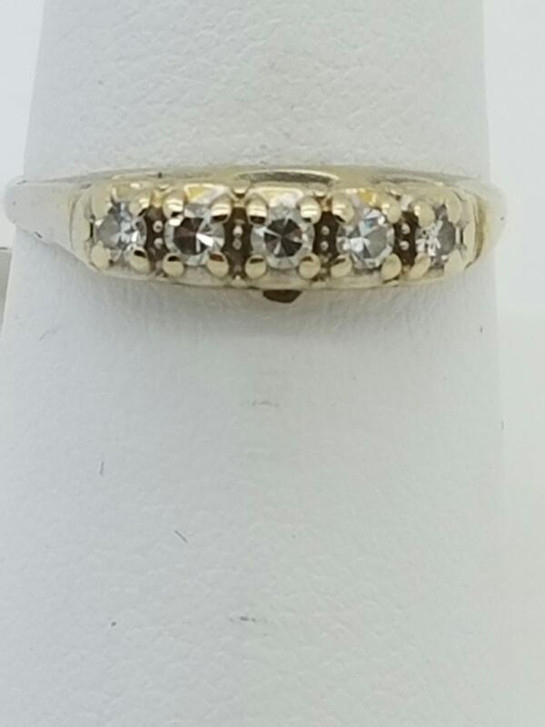 DIAMOND Lady's Diamond Fashion Ring 5 Diamonds .15 Carat T.W. 18K White Gold