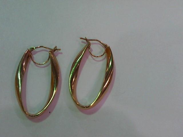 Gold Earrings 14K Rose Gold 1.8g