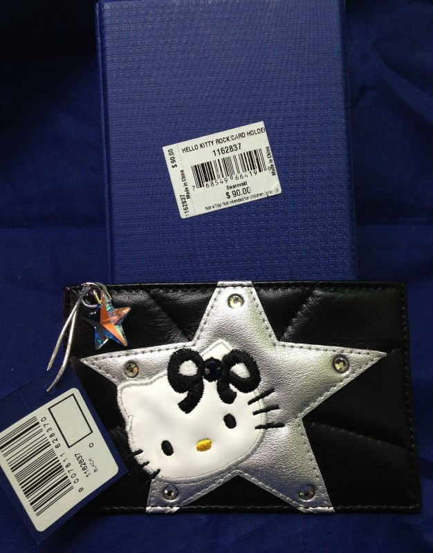 "Swarovski ""Hello Kitty"" Rock Card Holder"