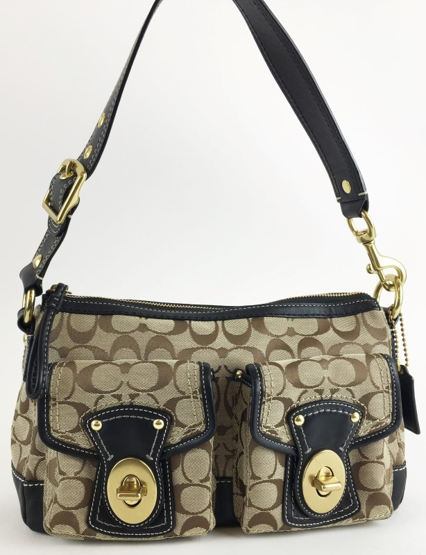 COACH SIGNATURE LEGACY SATCHEL HANDBAG F12869