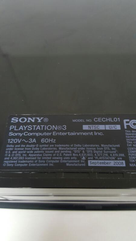 Sony PlayStation 3 Fat 80gb Black Console, PS3 (CECHL01, 2008)