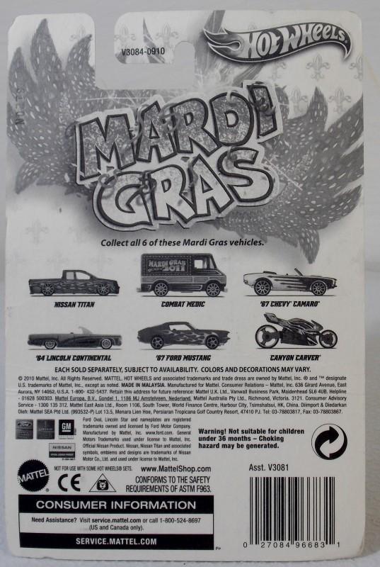 HOT WHEELS MARDI GRAS: '67 CHEVY CAMARO AND COMBAT MEDIC