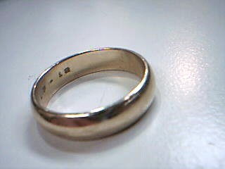 Gent's Gold Wedding Band 14K Yellow Gold 5.1g Size:9