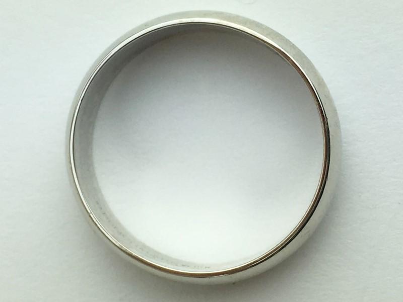 Gold Wedding Band 14K White Gold 5.41g Size:9