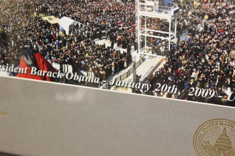 2009 Inauguration Panoramic Photo Barack Obama 35 x 21