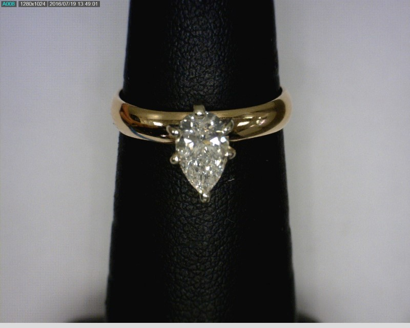 Lady's Diamond Solitaire Ring .77 CT. 14K Yellow Gold 1.65dwt Size:5