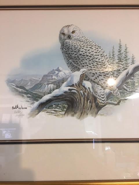 OWL LITHOGRAPH HAND SIGNED BY DON BALKE 1988  #1179/1500