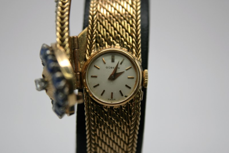ANTIQUE GUBELIN LADY'S SWISS WATCH 14K YELLOW GOLD
