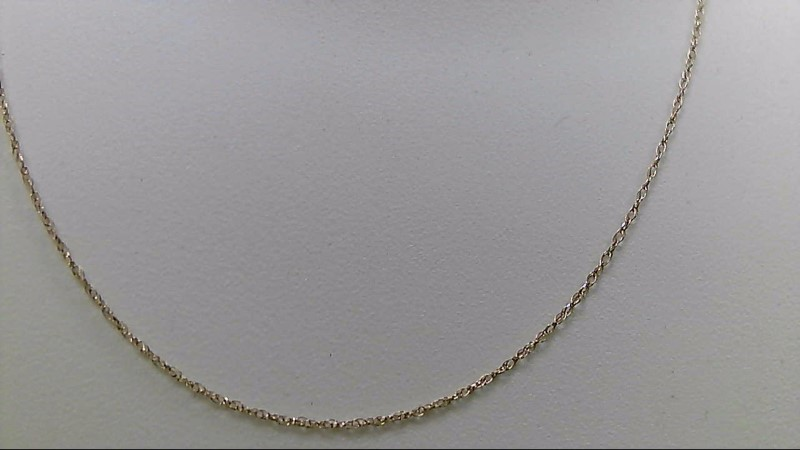 "18"" Gold Fine Chain 10K Yellow Gold 0.5g"