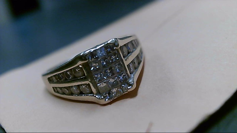Lady's Diamond Fashion Ring 49 Diamonds 1.47 Carat T.W. 14K Yellow Gold 5.8g