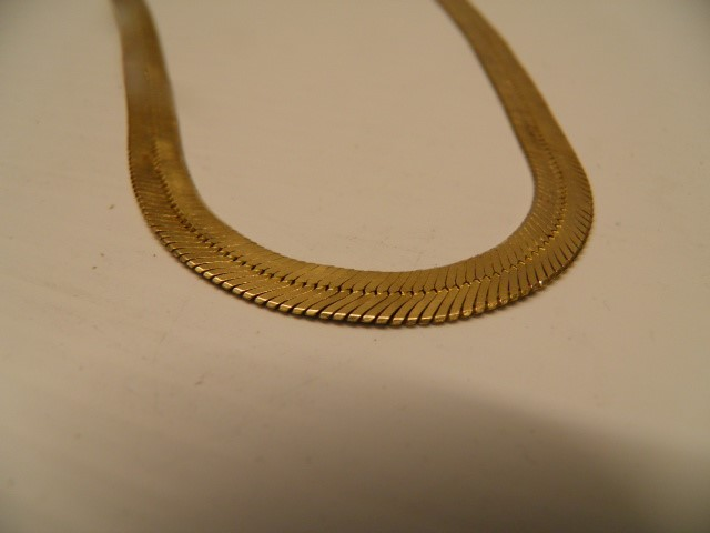 "20"" Gold Herringbone Chain 14K Yellow Gold 23.7g"