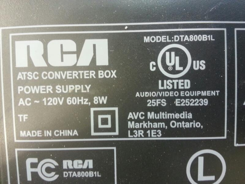 RCA Digital Media Receiver DTA800B1