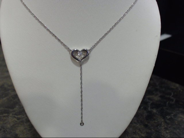 "16"" Gold Chain 14K White Gold 1.7g"