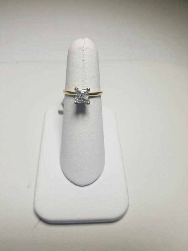 DIAMOND  SOLITAIRE RING L'S 14KT DIAMOND  1.3/YG