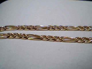 Gold Figaro Bracelet 14K Yellow Gold 3.5g