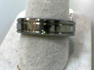 Gent's Wedding Band Silver Tungsten 7.8dwt