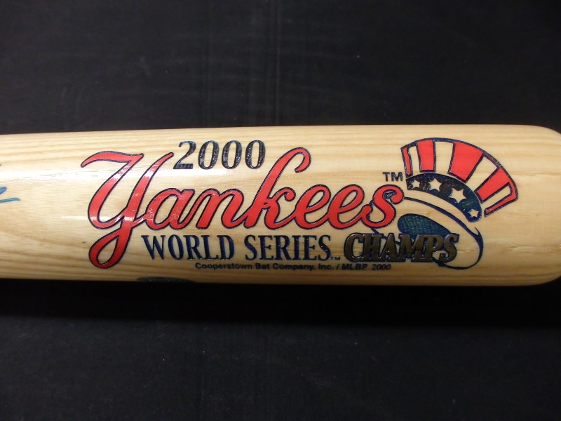DEREK JETER SIGNED BAT WITH HOLOGRAM LABLE COOPERSATOWN BAT #43