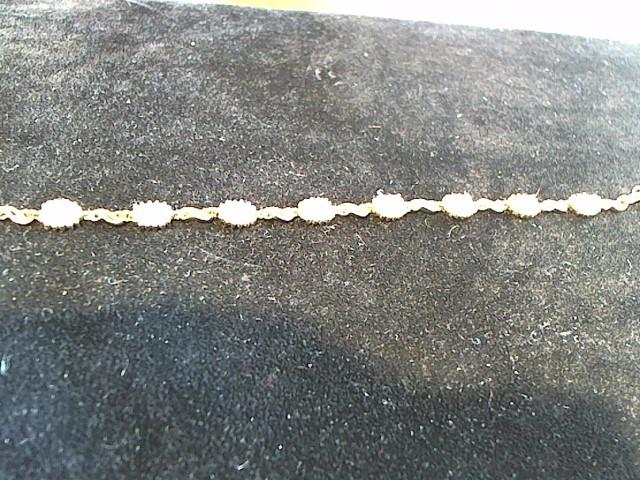 Synthetic Opal Silver-Stone Bracelet 925 Silver 8.6g