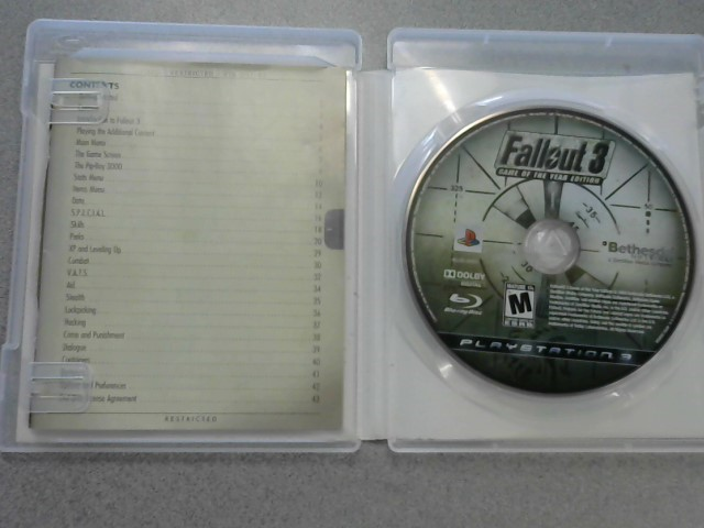 SONY Sony PlayStation 3 Game FALLOUT 3 GAME OF THE YEAR EDITION