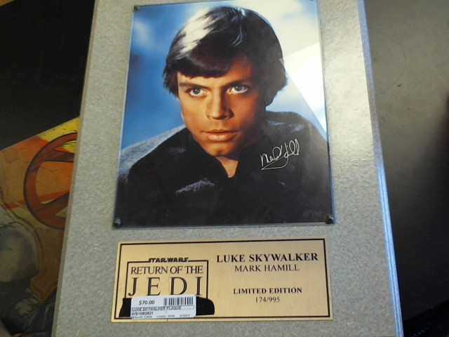 STAR WARS Entertainment Memorabilia SIGNED PHOTO FRAME