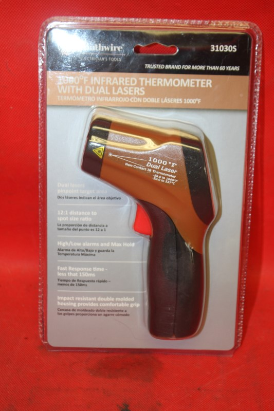 Southwire Infrared Thermometer with Dual Lasers, 1000 Degrees