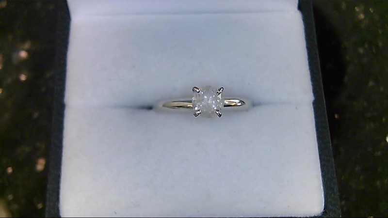 Lady's Diamond Solitaire Ring .50 CT. 14K White Gold 1.95g