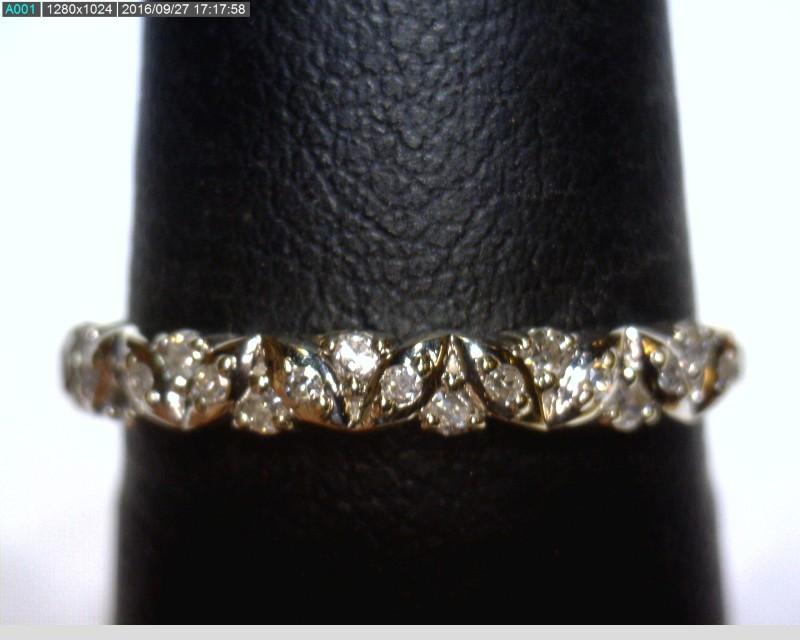 Lady's Diamond Fashion Ring 19 Diamonds .19 Carat T.W. 14K White Gold 1.1dwt