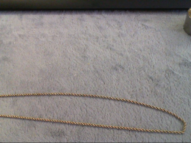 """18"""" Gold Rope Chain 14K Yellow Gold 4.1g"""