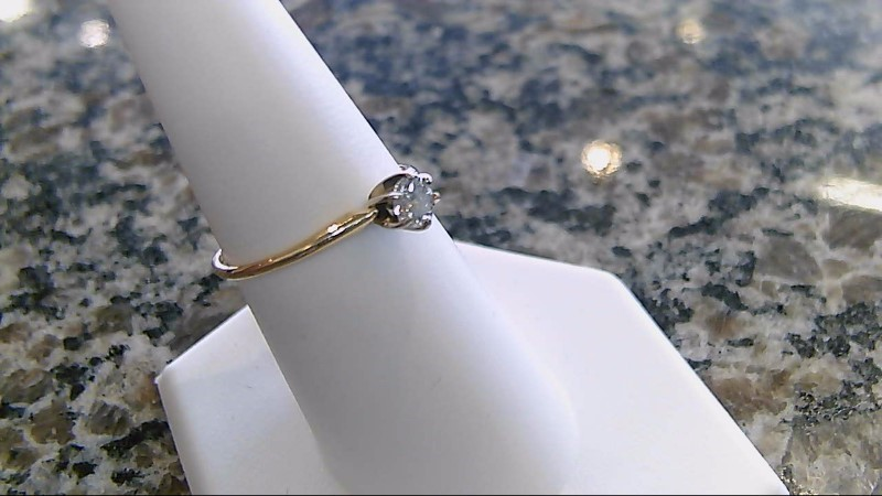 Lady's Diamond Solitaire Ring .33 CT. 14K Yellow Gold 1.4g Size:8