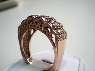 Lady's Diamond Fashion Ring 70 Diamonds .70 Carat T.W. 14K Rose Gold 10.8g