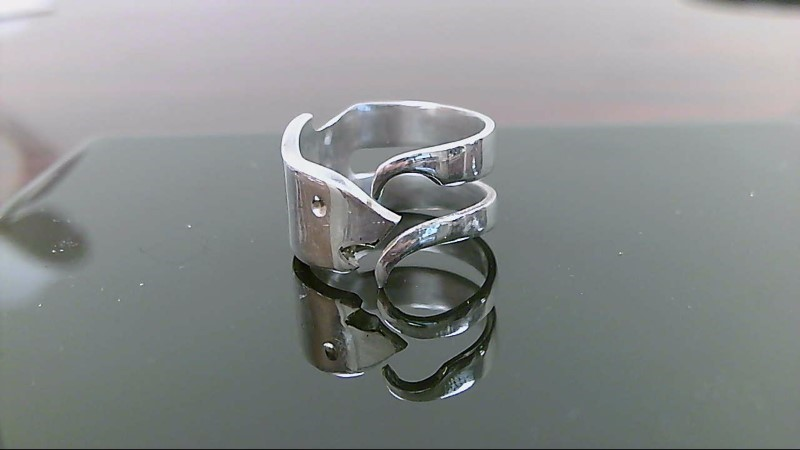 Lady's Silver Ring 925 Silver 7.4g fork / spoon fish ring
