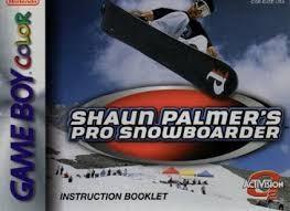 NINTENDO Vintage Game SHAUN PALMERS PRO SNOWBOARDER