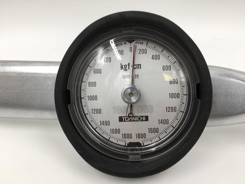 "TOHNICHI 1/2"" 1800 DB3 200-1800 KGF-CM DIAL TORQUE WRENCH"