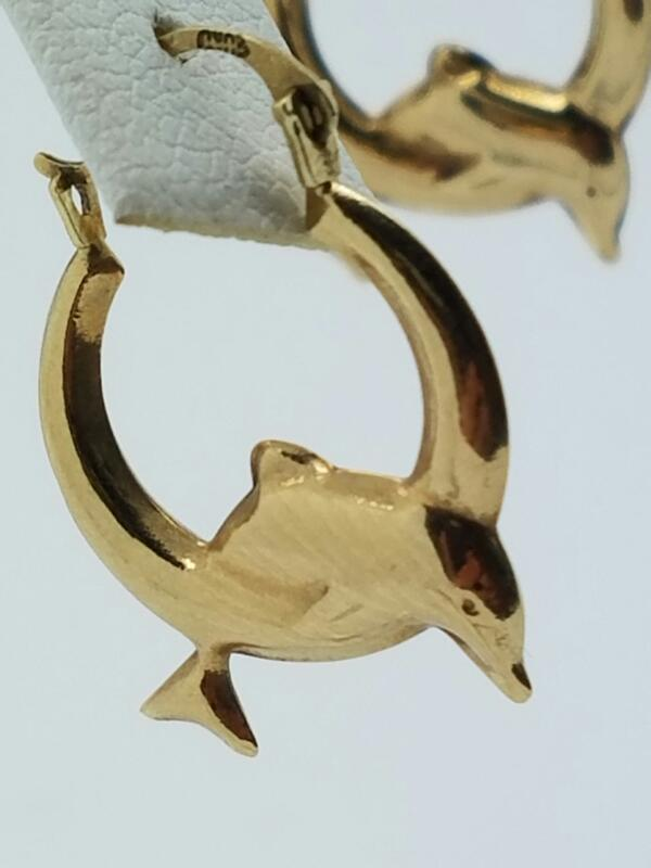 DOLPHIN_EARRINGS EARRINGS_PAIR EARRINGS   10KYG WMS EARRINGS .5_DWT/YG