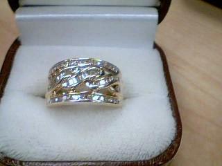 Lady's Diamond Wedding Band 24 Diamonds .48 Carat T.W. 10K Yellow Gold 4.2g