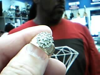 Gent's Diamond Cluster Ring 18 Diamonds .72 Carat T.W. 14K Yellow Gold 6.5g