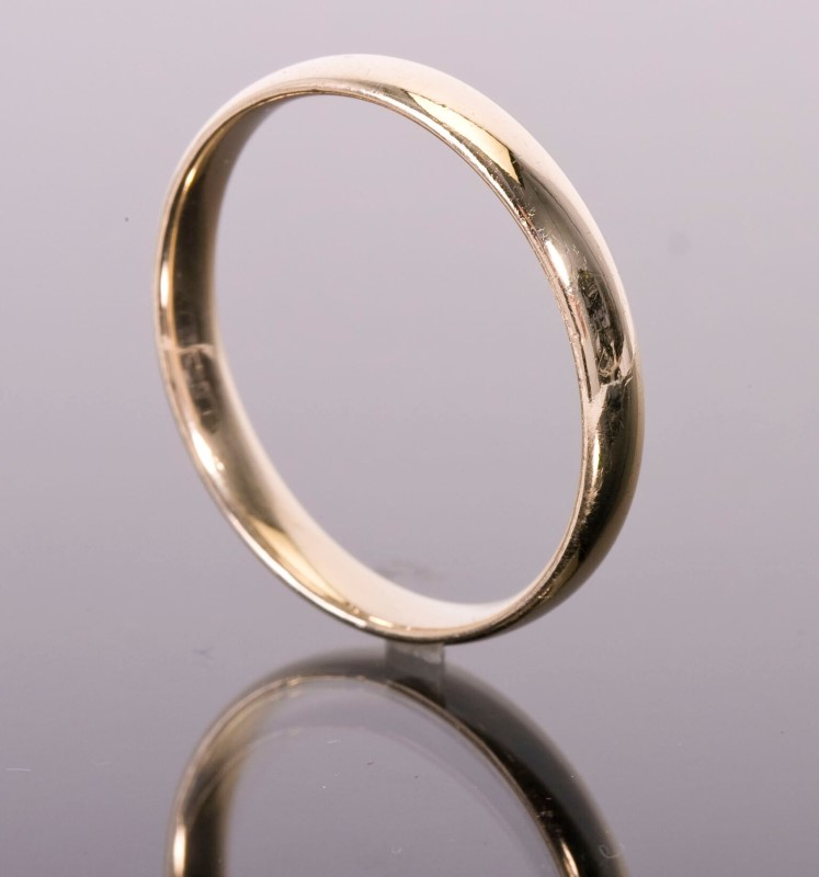 Gent's Band  Ring 14KYG  3.7g Size:12.5