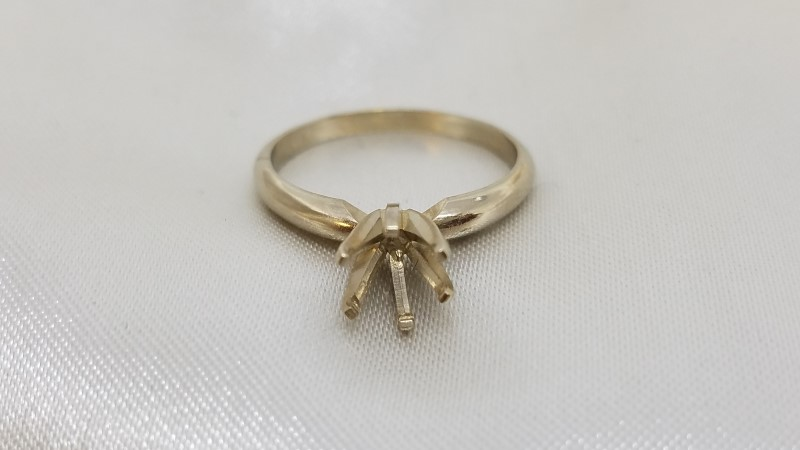 6-Prong Solitaire Engagement Ring Setting Semi-Mount 0.25ct - 0.84ct