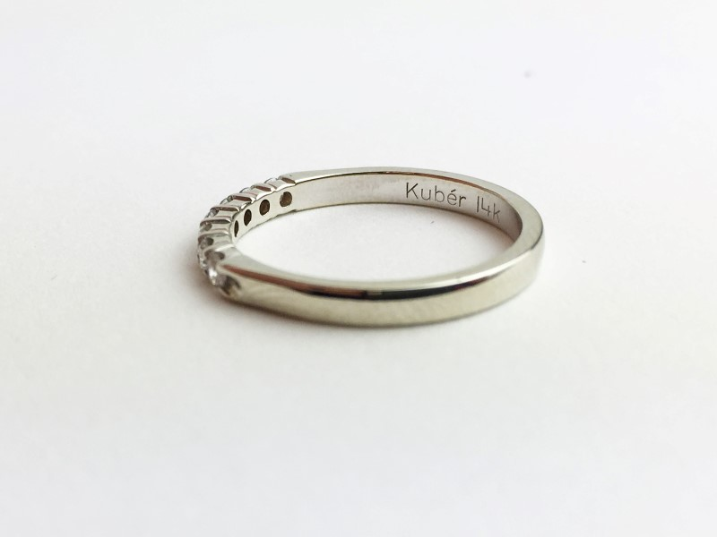 Diamond Fashion Ring 7 Diamonds .21 Carat T.W. 580 White Gold 2.03g