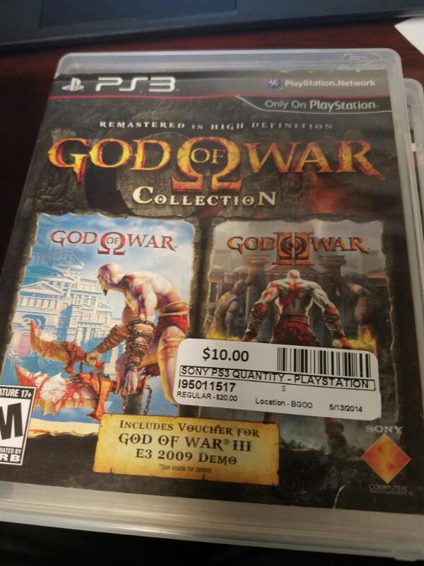 SONY Sony PlayStation 3 Game GOD OF WAR COLLECTION