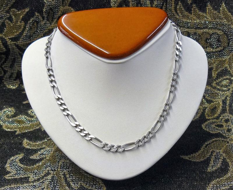 """20"""" Silver Figaro Chain 925 Silver 15.82dwt"""