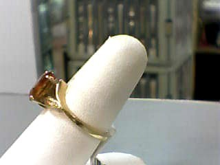 Synthetic Citrine Lady's Stone Ring 14K Yellow Gold 2dwt Size:7