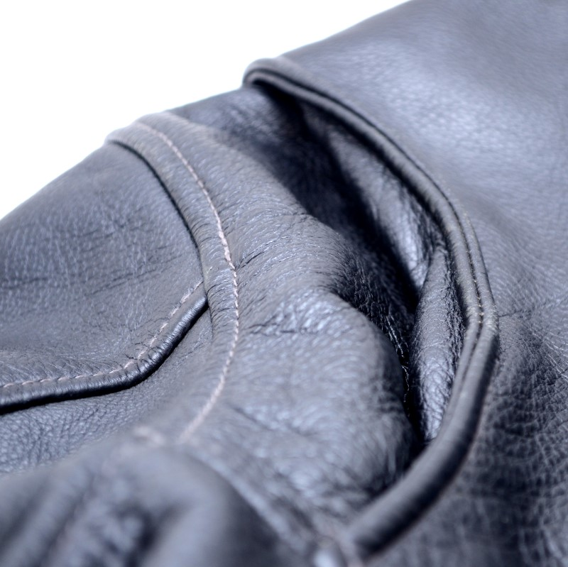 St. John's Bay Genuine Leather Jacket Mens Size XL Black >