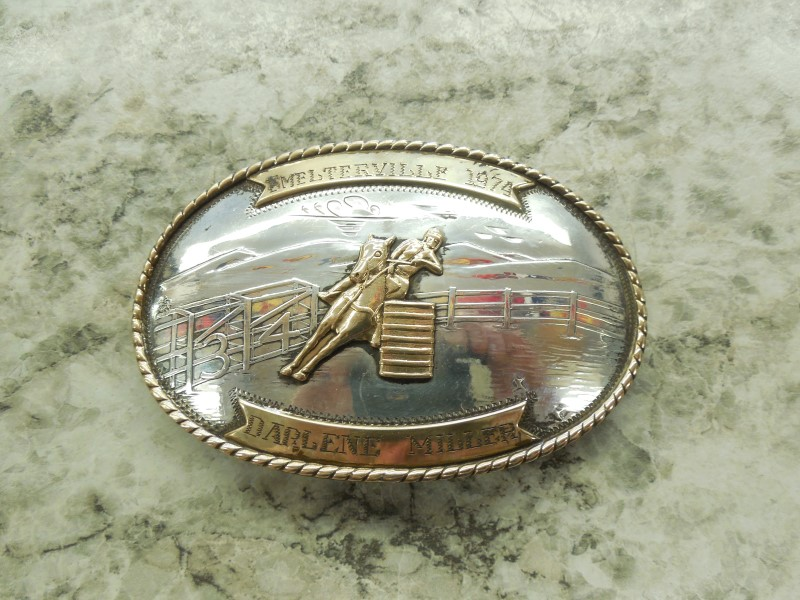 COMSTOCK SILVER BELT BUCKLE