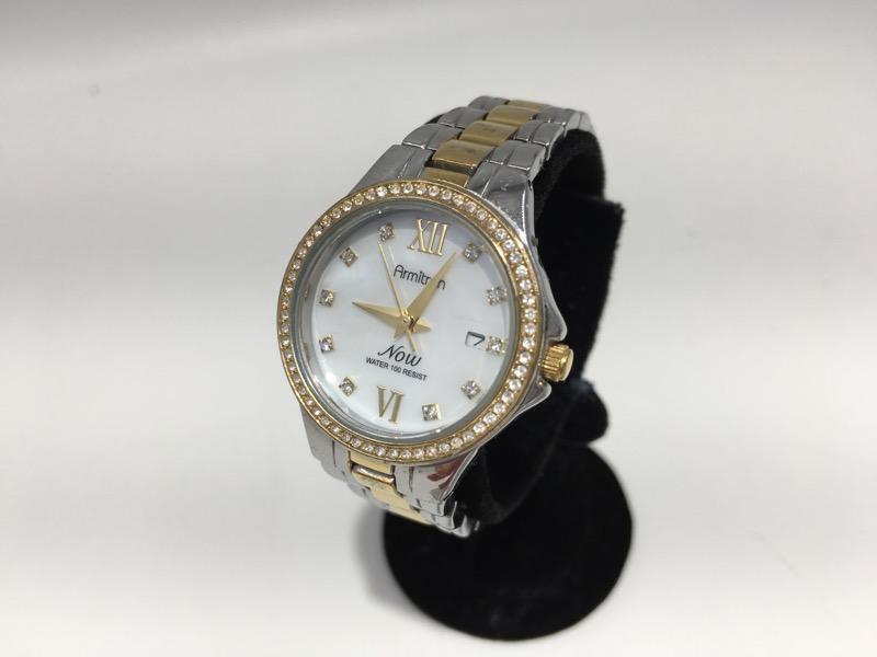 Armitron Ladies MOP Two Tone Bracelet Dress Watch 75/5122