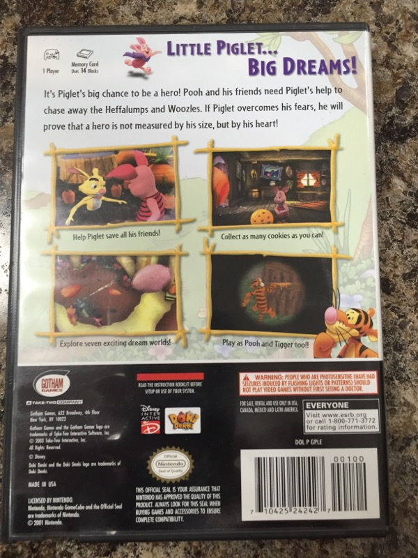 NINTENDO Nintendo GameCube Game PIGLETS BIG GAME GAMECUBE