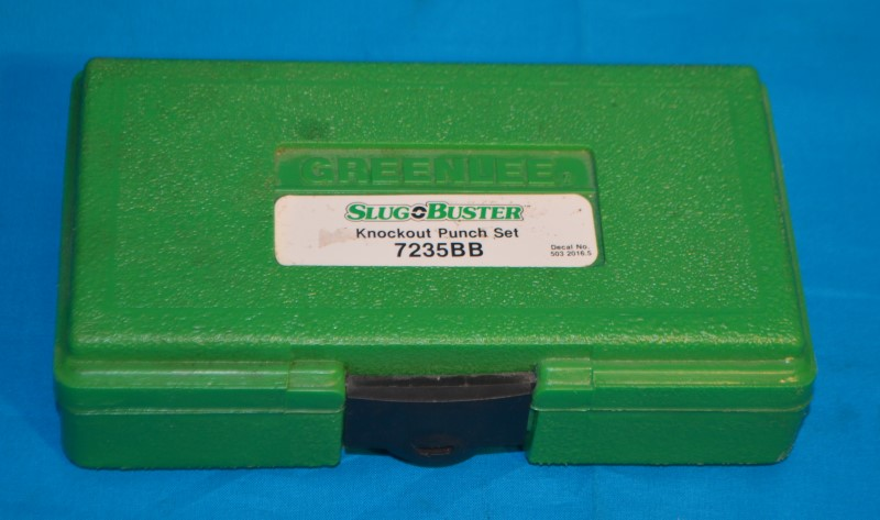 "Greenlee 7235BB 1/2""-1-1/4"" Slug Buster Knockout Punch 6-Piece Set w/Case"