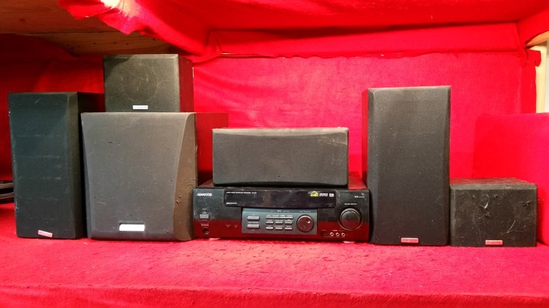 Kenwood AM/FM Home Stereo Receiver - Surround Sound Speakers