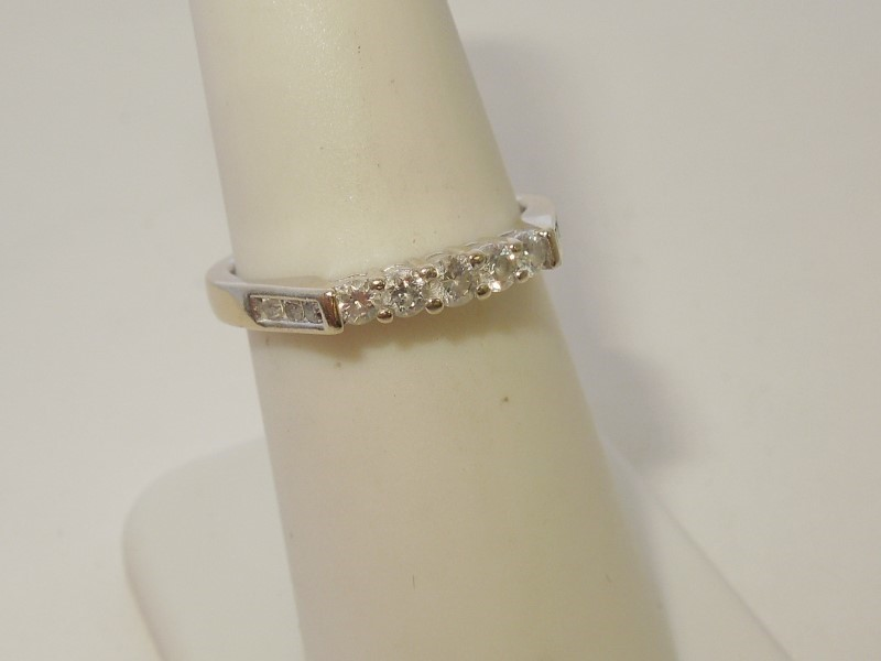 Lady's Diamond Fashion Ring 11 Diamonds .26 Carat T.W. 14K White Gold 2.9g