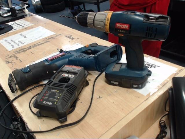 RYOBI Cordless Drill SA1802 AND RJC181